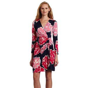 Lilly Pulitzer Augusta Pink and Navy Floral Dress
